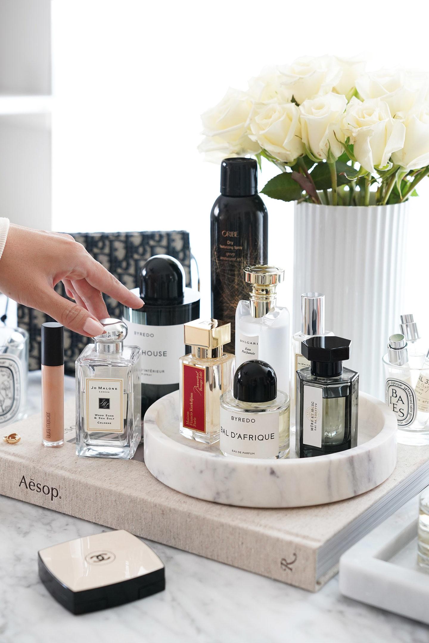 Parfums préférés des Parfums Jo Malone, Bulgari, Byredo, L'Artisan et Maison Francis Kurkdjian