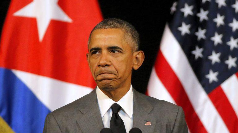 Le président américain Barack Obama prononce un discours au Gran Teatro de La Havane Cuba