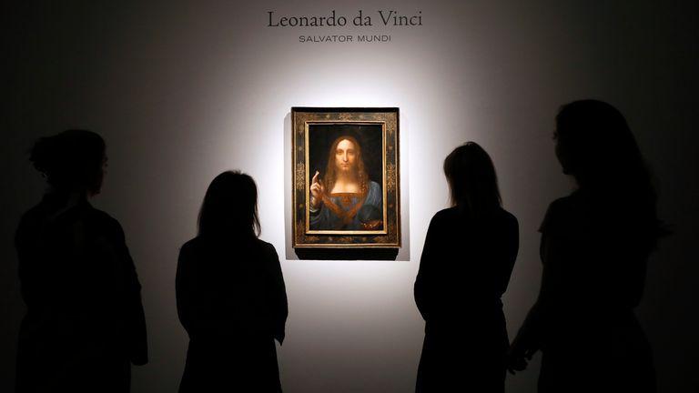 La peinture est la copie de da Vinci de la peinture de Salvator Mundi du 16ème siècle de Jésus-Christ.