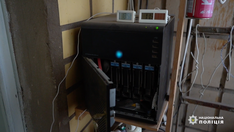 La police a recueilli une énorme quantité de preuves numériques.  Pic: Police nationale d'Ukraine