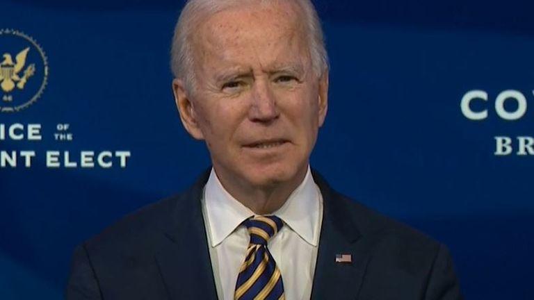Joe Biden implore le public américain de porter un masque