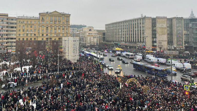 Le rallye à Moscou