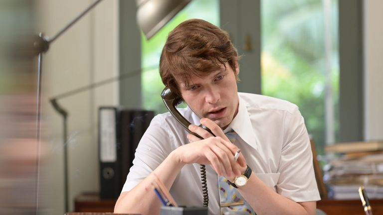 Herman Knippenberg (BILLY HOWLE) dans Le Serpent.  Pic: écran BBC / Mammoth