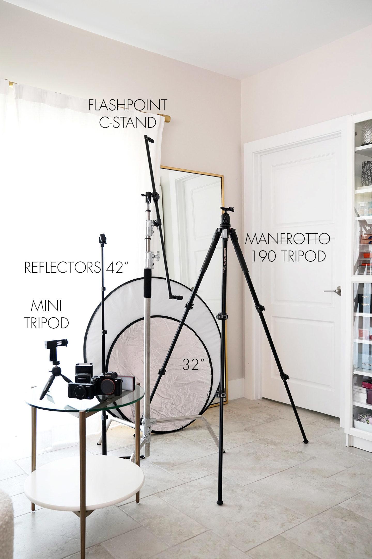 Trépied, réflecteurs, caméras, équipement et outils de montage |  Le Look Book Beauté