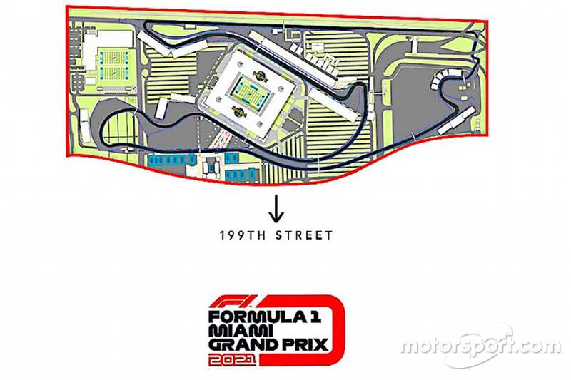 Plan de piste révisé du Grand Prix de Miami