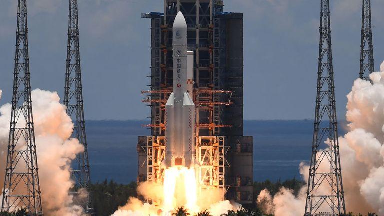 Tianwen-1 a été lancé avec succès depuis l'île de Hainan au large de la côte sud de la Chine