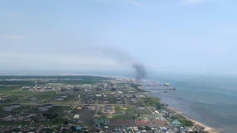 Le terminal pétrolier de Bonny dans le delta du Niger, exploité par Royal Dutch Shell