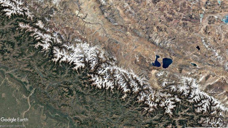 Imagerie satellite de la zone de décembre 2016. Crédit: