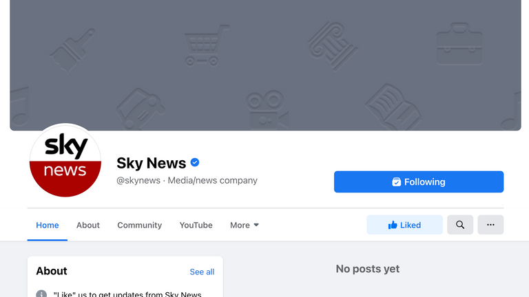 Le blocage a également eu un impact sur Sky News UK