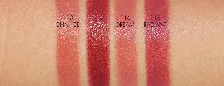 Échantillons de rouge à lèvres hydratant Chanel Rouge Coco Bloom