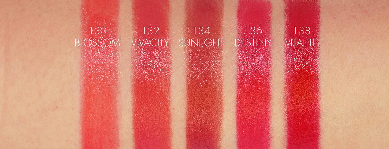 Échantillons de rouge à lèvres Chanel Rouge Coco Bloom