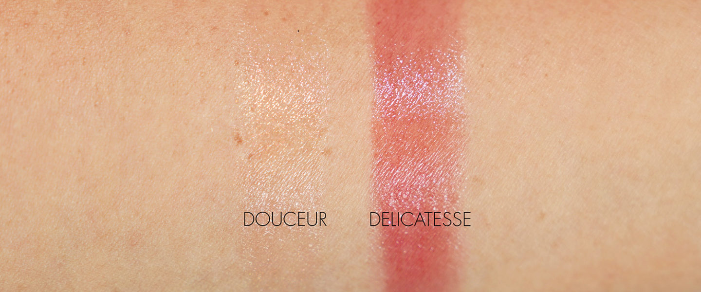 Chanel Rouge Coco Flash in Douceur 154 et Delicatesse 156 échantillons