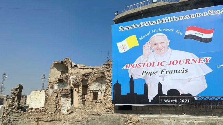 Le Pape terminera son voyage à Mossoul