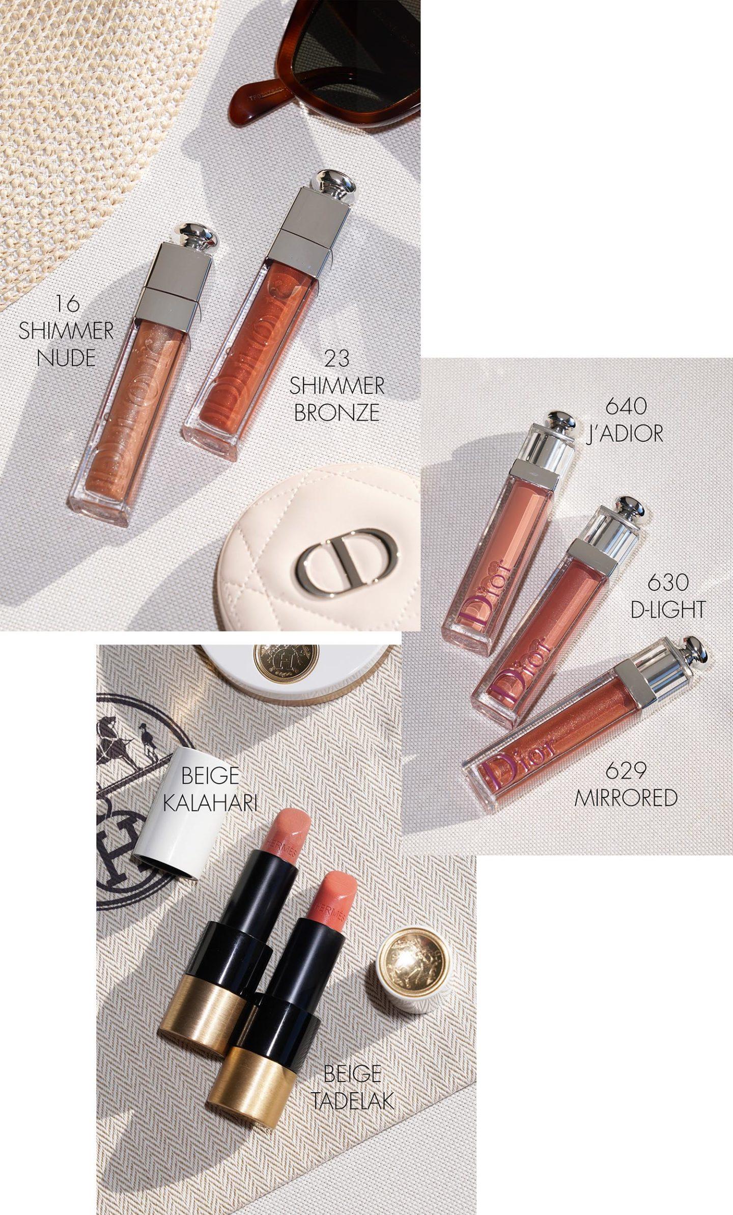 Lèvres printemps-été Dior et Hermès