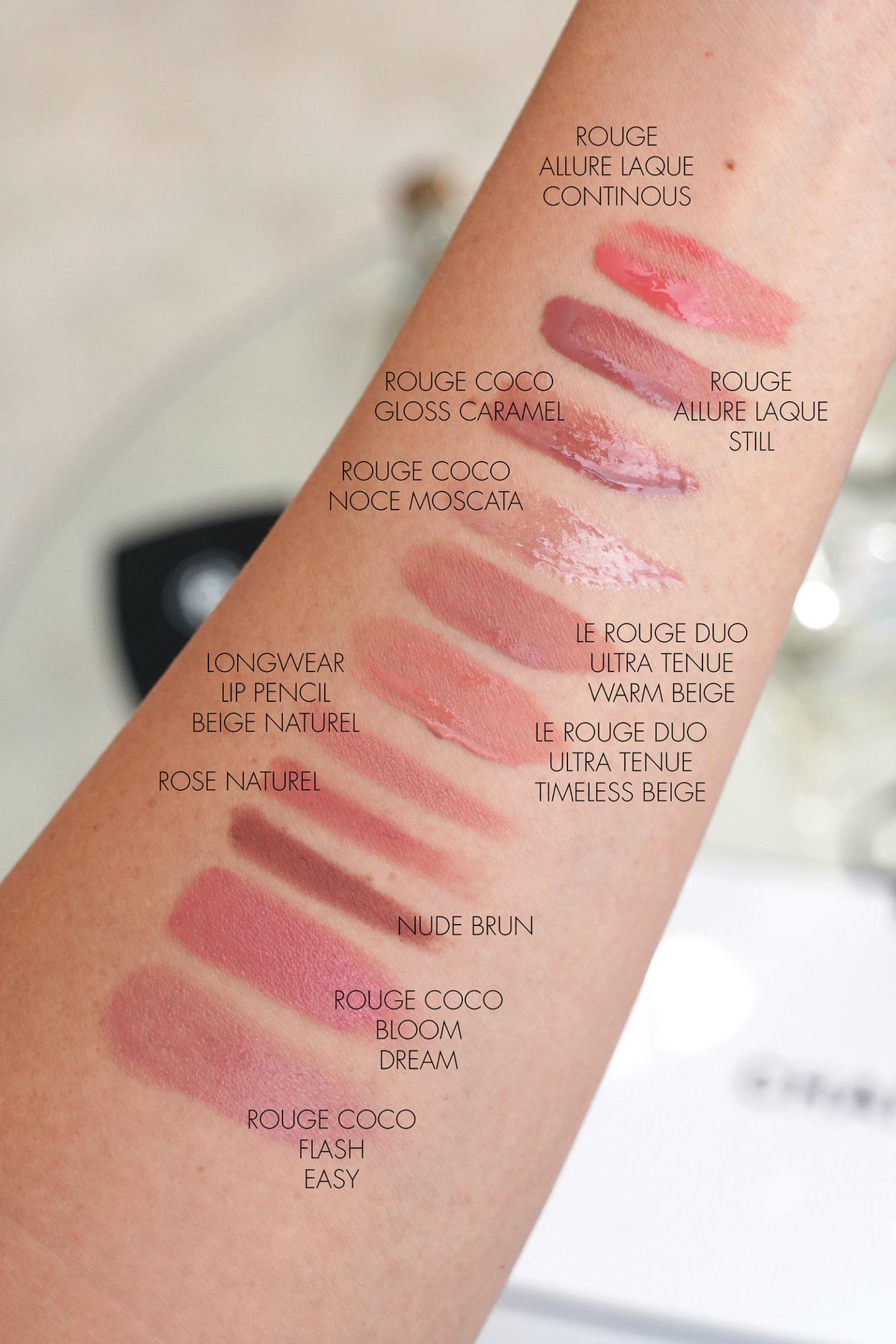 Meilleurs échantillons de lèvres neutres Chanel