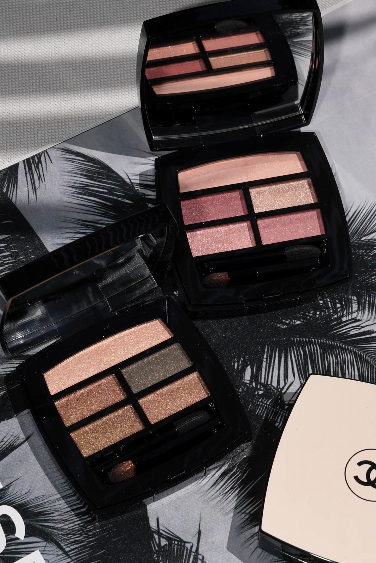 Palette d'ombres à paupières naturelles Chanel Les Beiges Healthy Glow dans Tender and Intense