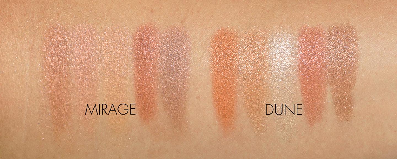 Échantillons de fard à paupières Dior Summer Dune