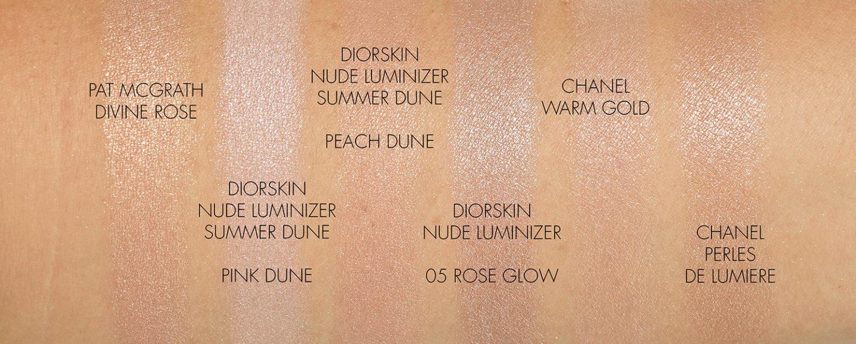 Échantillons de surligneur Dior Summer Dune Diorskin Nude