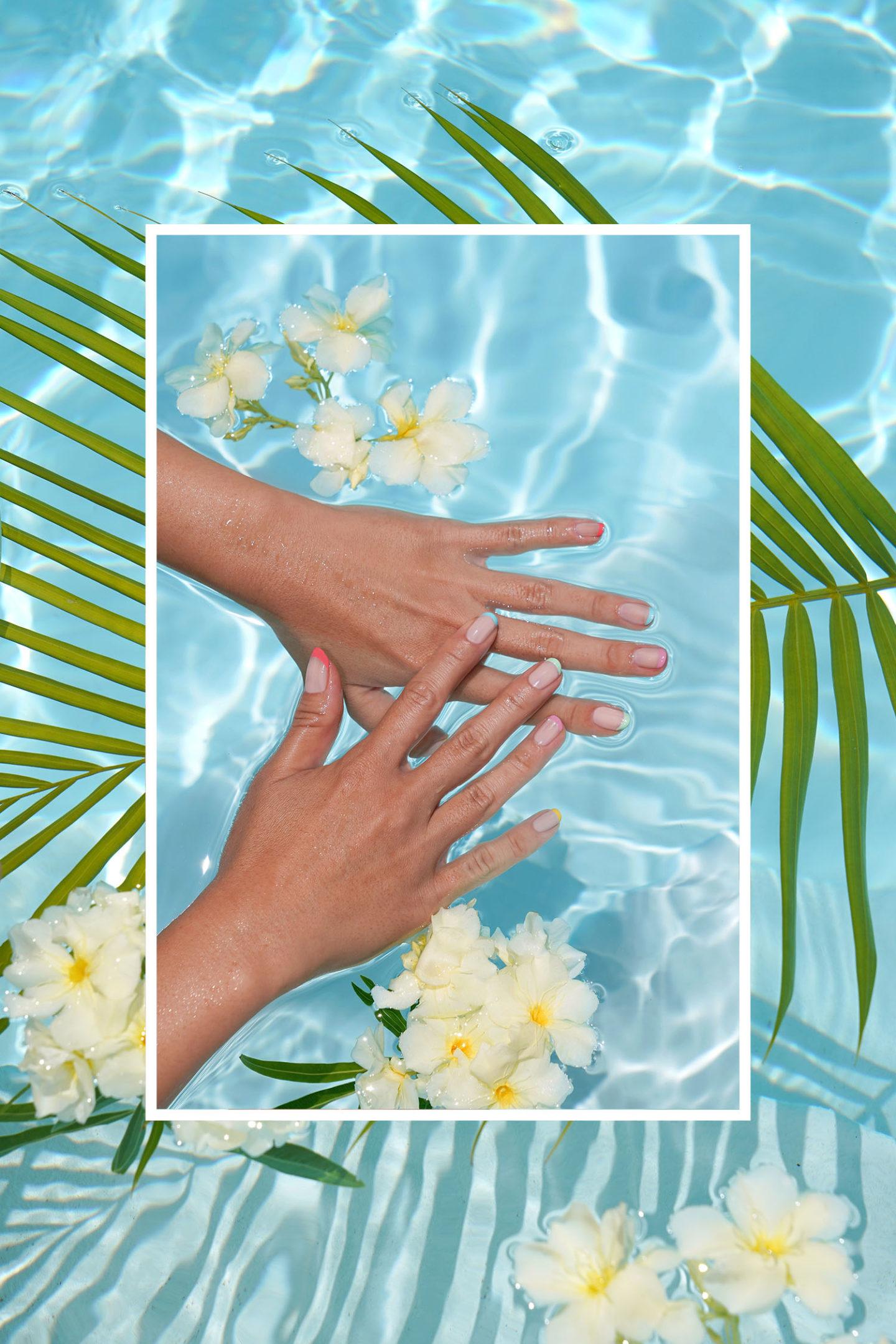 Couleurs d'ongles d'été OPI: 3couches de bain moussant OPI, puis (pouce au petit doigt) Ne dites pas à un sol, c'est Hula-Rious, c'est une fille, Gelato sur mon esprit, je me suis mis dans un jam-balaya