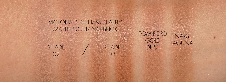 Échantillons de briques bronzantes mates Victoria Beckham 02 et 03