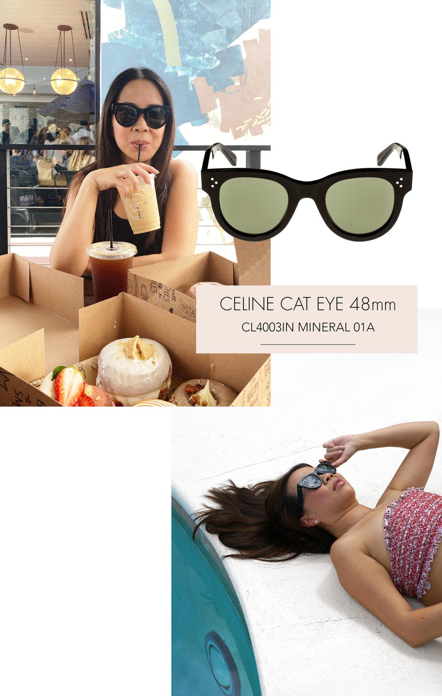 Lunettes De Soleil Celine Cat Eye 48mm Noir