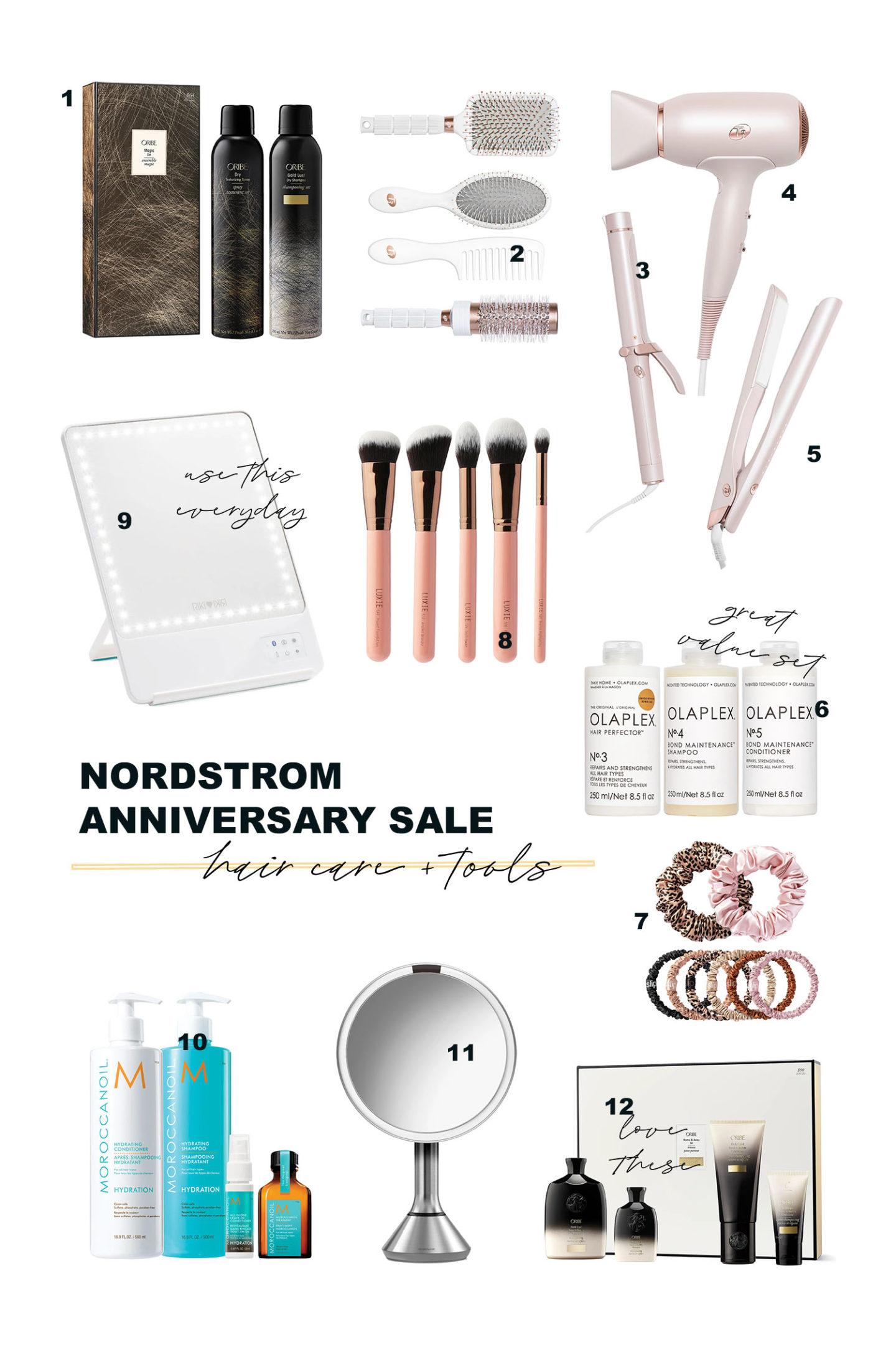 Vente d'anniversaire Nordstrom 2021 Exclusivités beauté Soins et outils capillaires