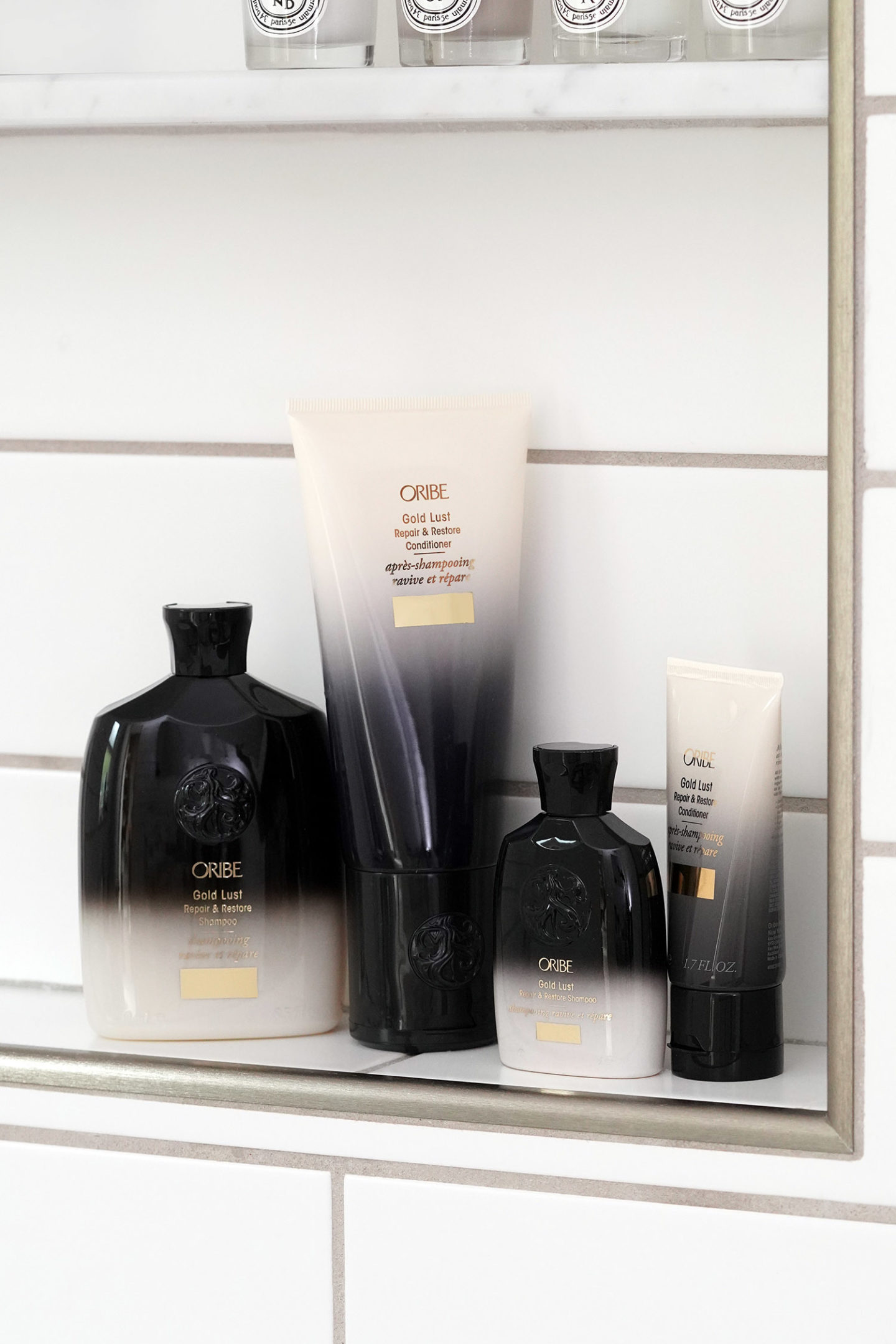 Oribe Home & Away Gold Lust Repair & Restore Shampooing & Revitalisant Ensemble