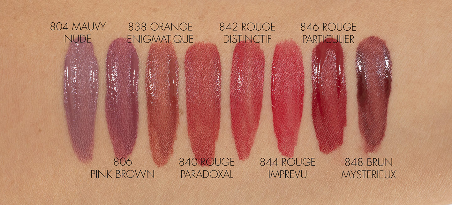 Nuancier Chanel Rouge Allure Ink Fusion New Shades