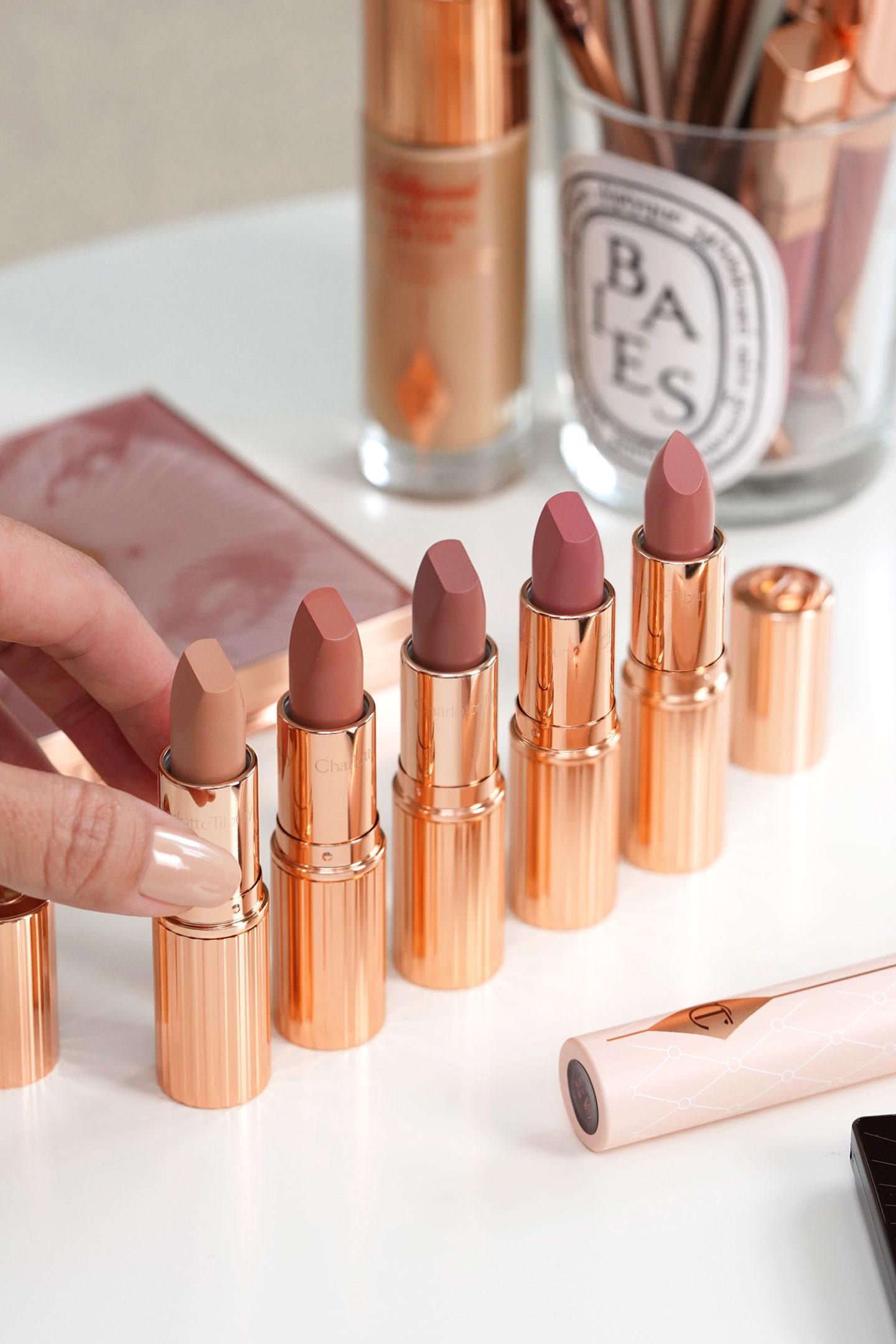 Charlotte Tilbury Super Nudes Lipsticks Cover Star, Catwalking, Super Fabulous, Top Model, Runway Royalty