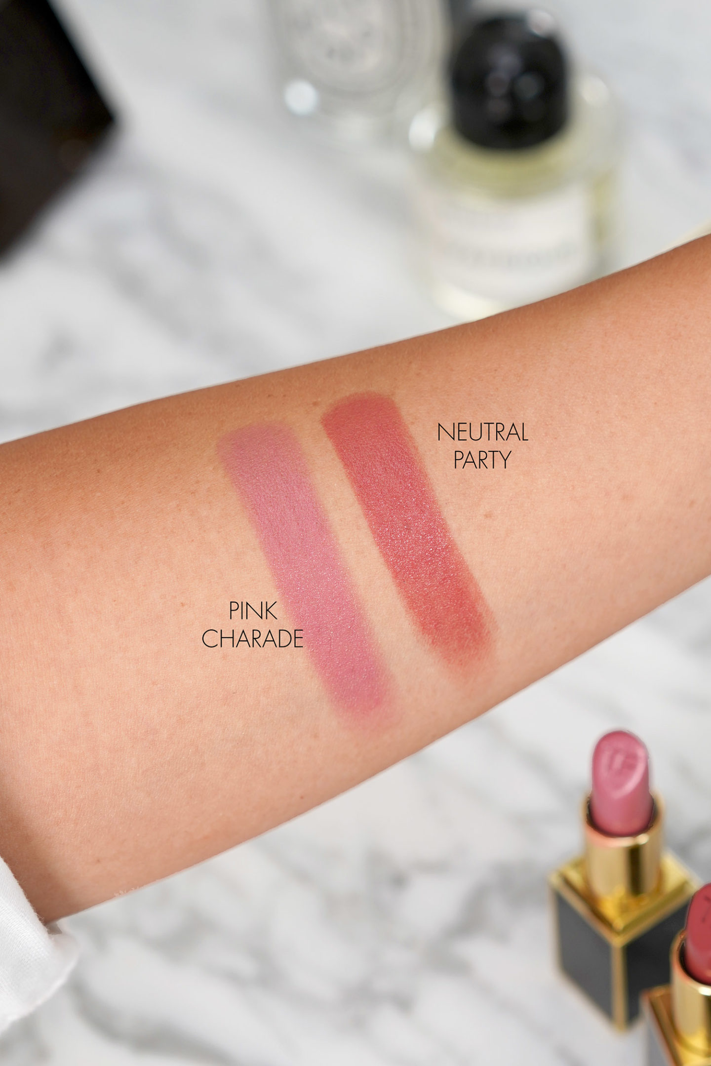 Nuanciers Tom Ford Lip Colour Pink Charade et Neutral Party