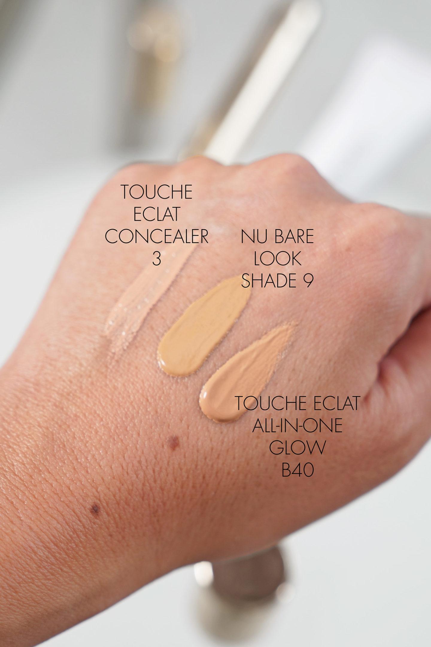 YSL Touche Eclat Concealer 3, NU Bare Look Tint 9, Nuancier Touche Eclat B40