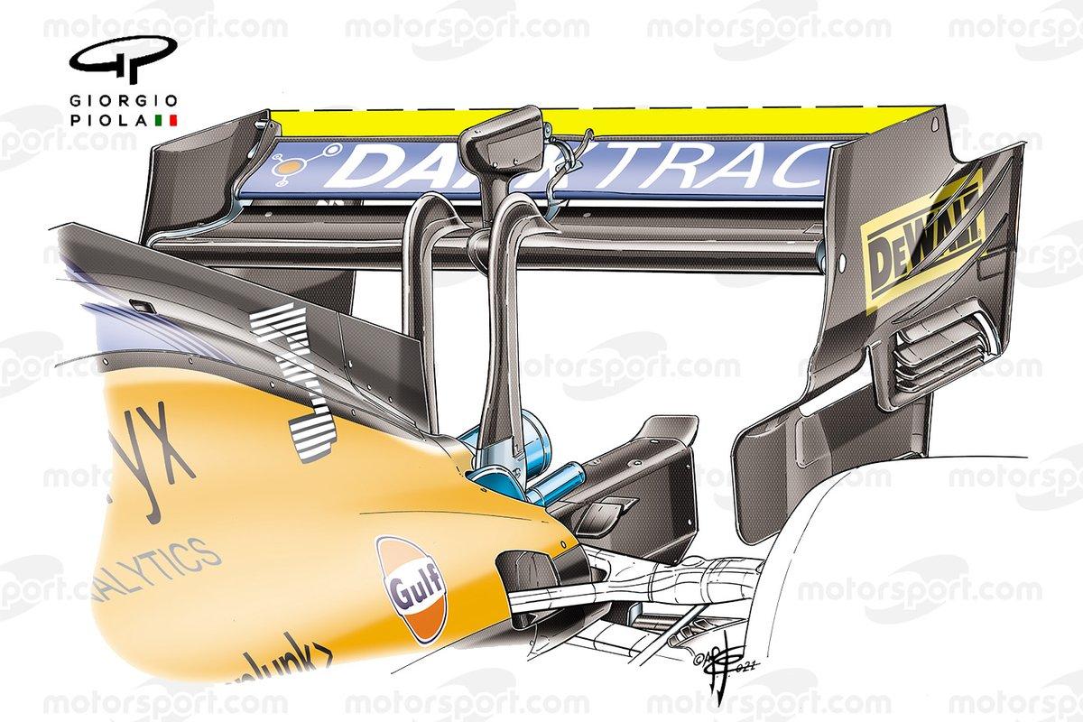 Aileron arrière McLaren MCL35M, GP d'Italie