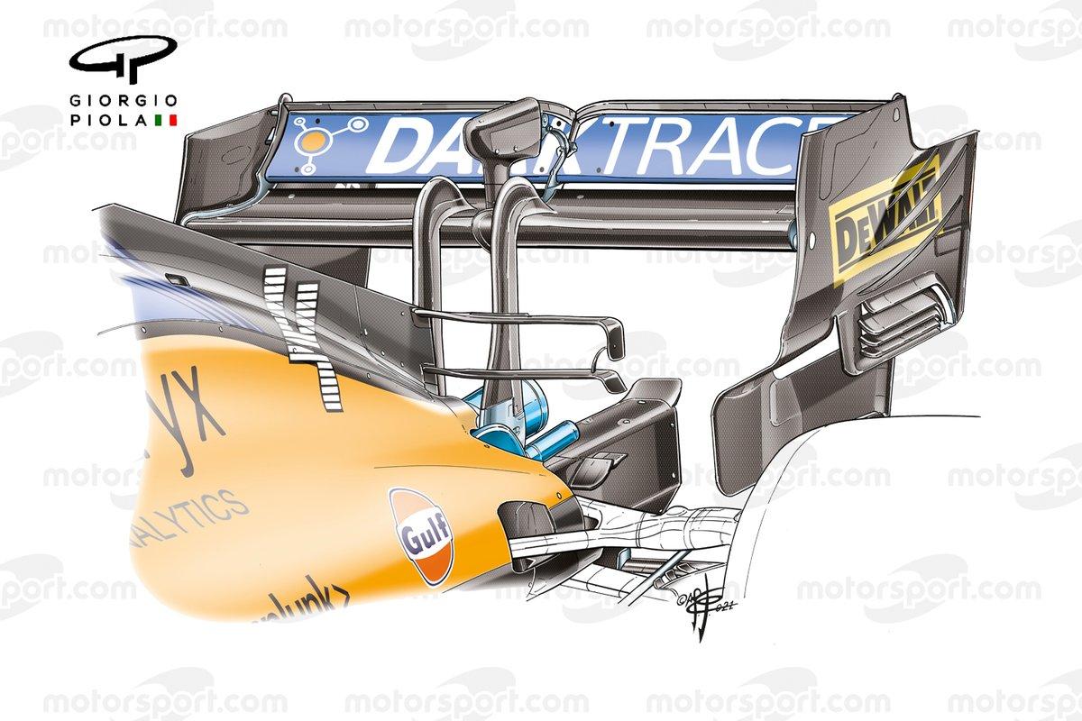 Aileron arrière McLaren MCL35M, GP de Russie