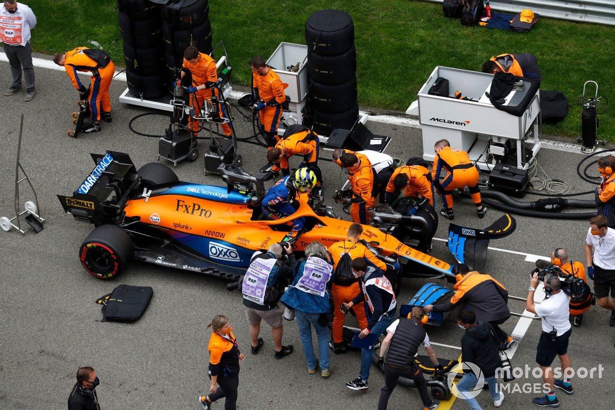 Lando Norris en pole à Sotchi le week-end dernier avec sa McLaren MCL35M