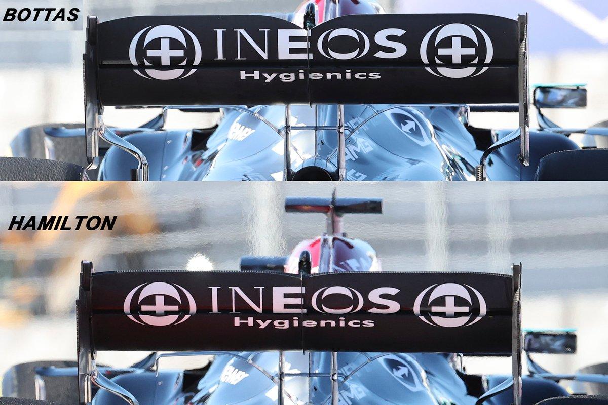 Comparatif de l'aileron arrière Mercedes AMG F1