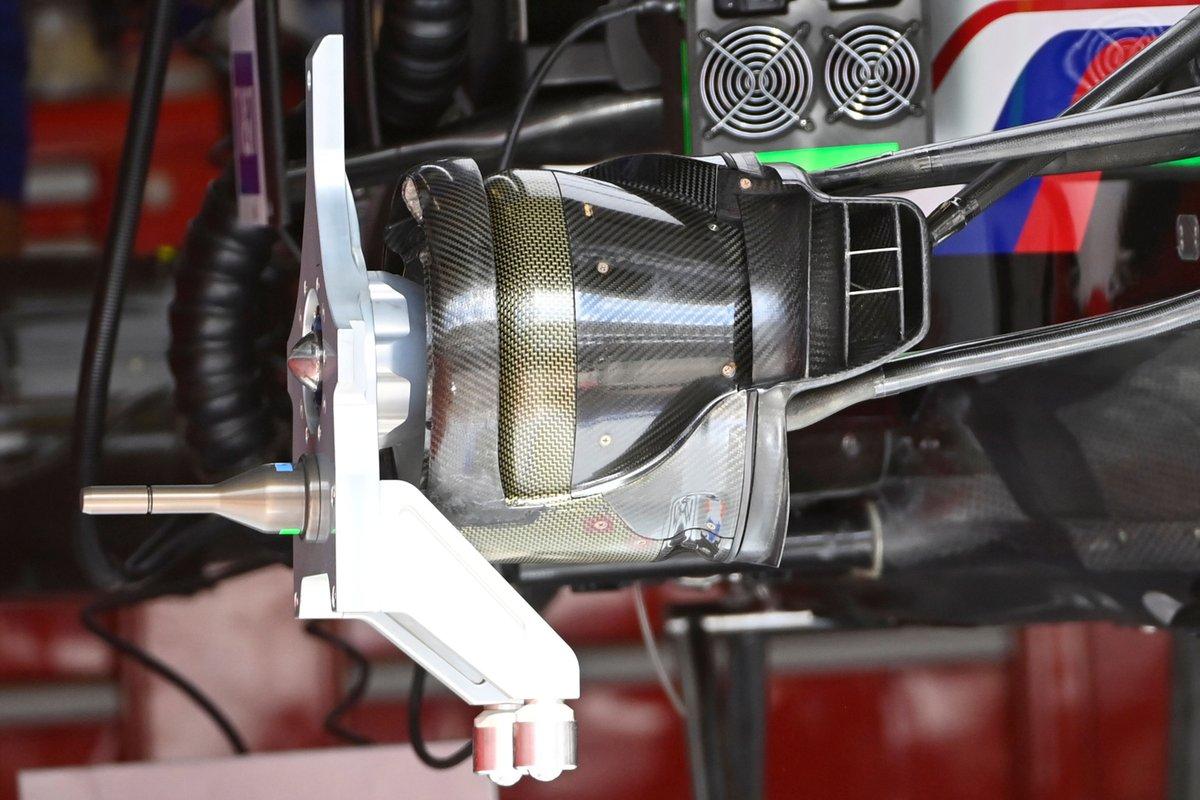 Détail du tambour de frein Haas VF-21