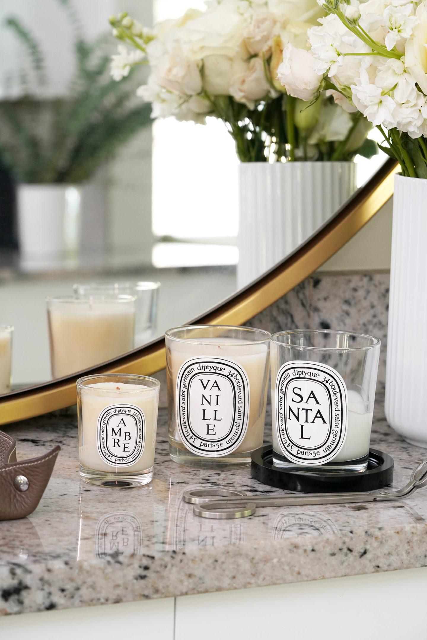 Meilleures bougies Diptyque pour l'automne Ambre, Vanille et Santal