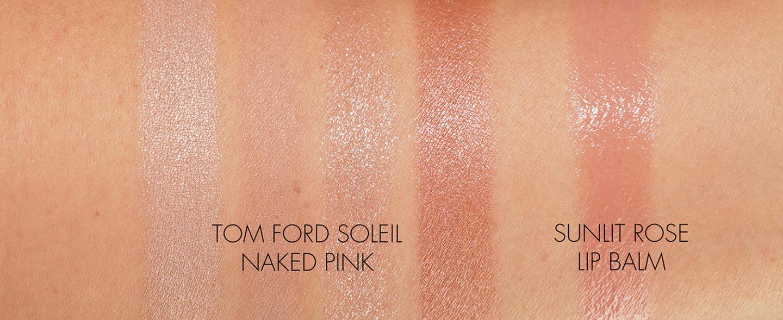 Nuancier Tom Ford Soleil Naked Pink Eyeshadow Quad et Sunlit Rose