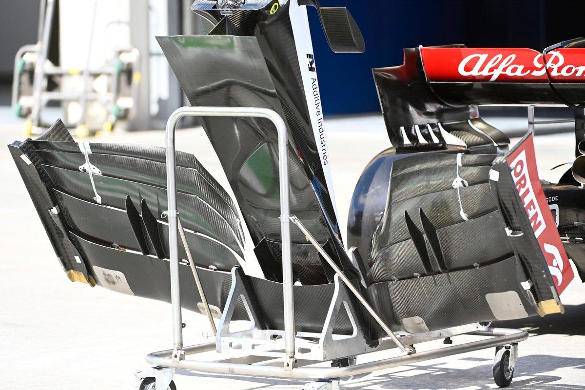 Alfa Romeo Racing C41 détail nez et aileron avant